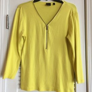 6fb1a5a0af31c Rafaella Studio Canary Yellow Top Blouse M-F1